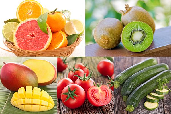 eat citrus fruits, kiwi, mangoes etc. during summers