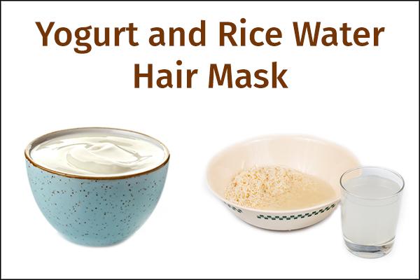 yogurt and rice water hair mask