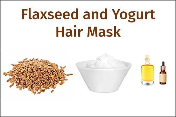 flaxseed and yogurt hair mask
