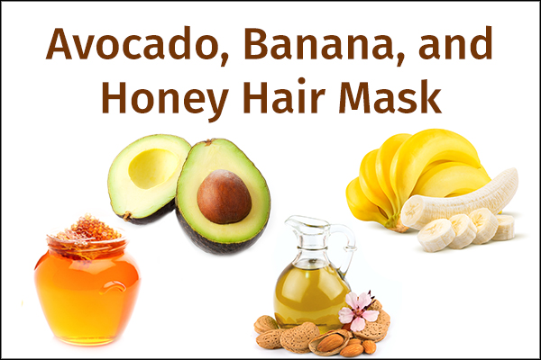 avocado, banana, and honey hair mask