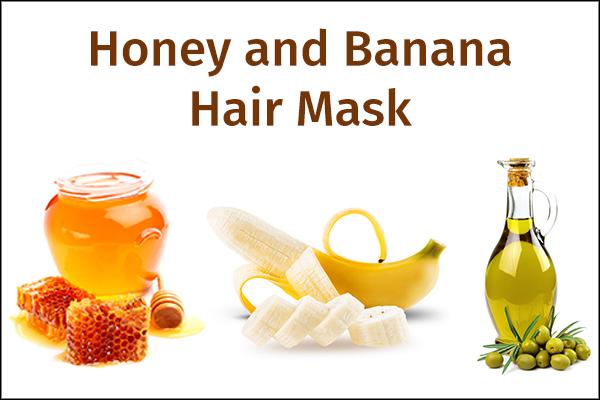 honey and banana hair mask