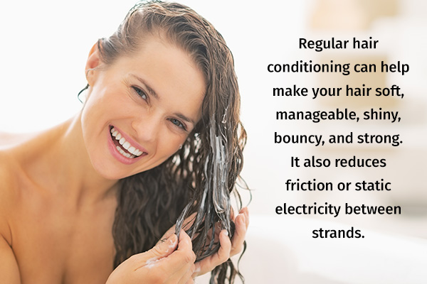 regular hair conditioning is essential for hair care