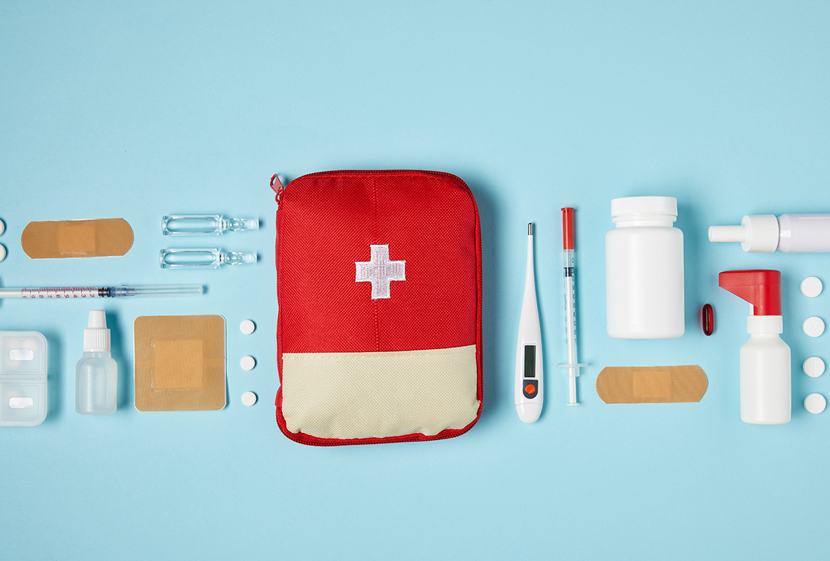 first aid for cuts, scrapes, muscle spasm
