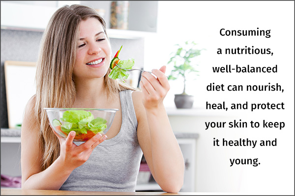 nutritious diet is essential for healthy skin