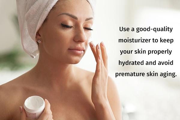 keep your skin regularly moisturized