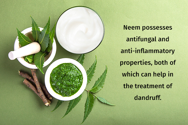 neem and coconut oil usage can help in dandruff prevention