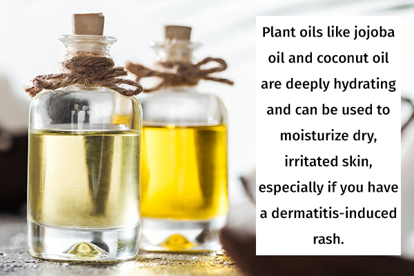 plant oils can be applied to soothe rashes