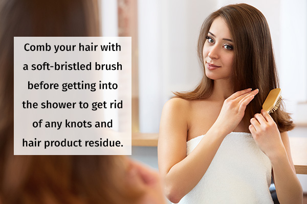prewashing ritual for hair care