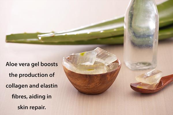 aloe vera gel can help repair cracked skin