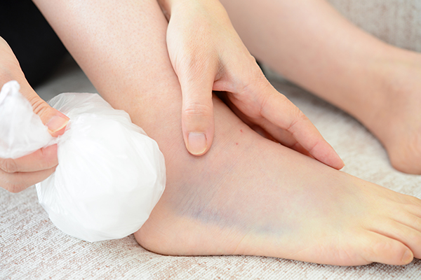 first-aid measures for sprains, strains, and spasms