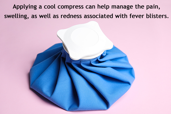 applying a cold compress can help soothe skin blisters