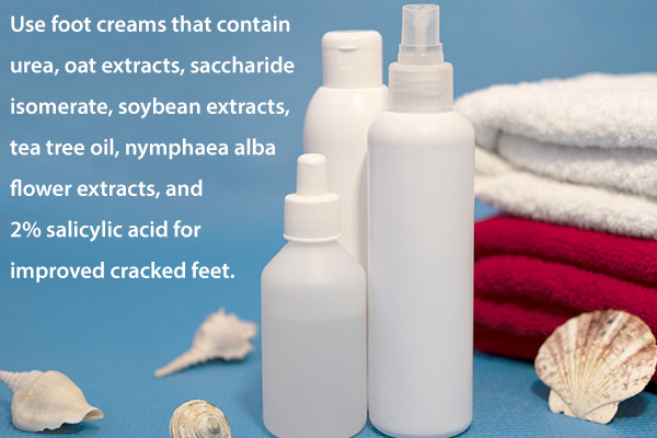 using heavy-duty creams and serums can help prevent cracked feet