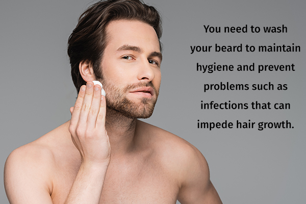 go for special beard shampoos to wash your beard