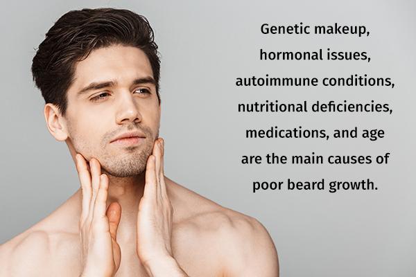 reasons behind poor beard growth