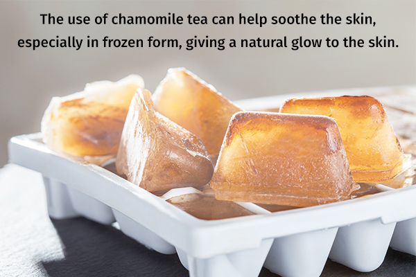 chamomile tea cold compress for glowing skin