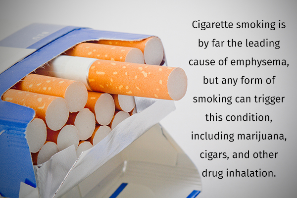 common causes behind emphysema