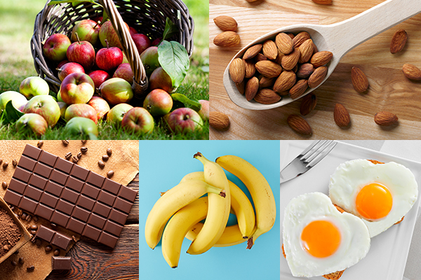 apples, almonds, dark chocolate etc can help boost dopamine levels