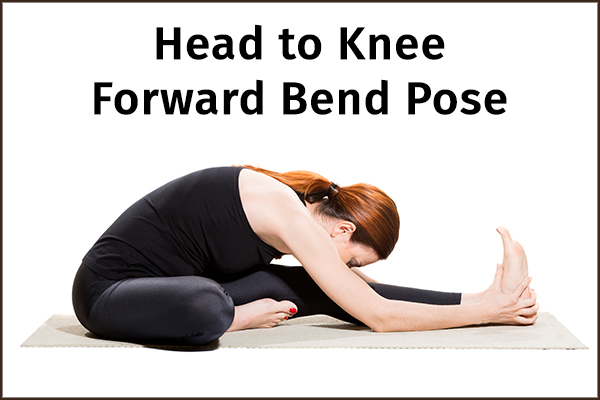 head to knee forward bend pose for anxiety relief