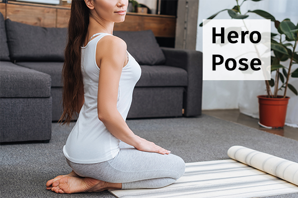 hero pose for reducing anxiety