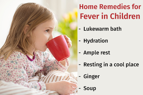 home remedies for fever in children