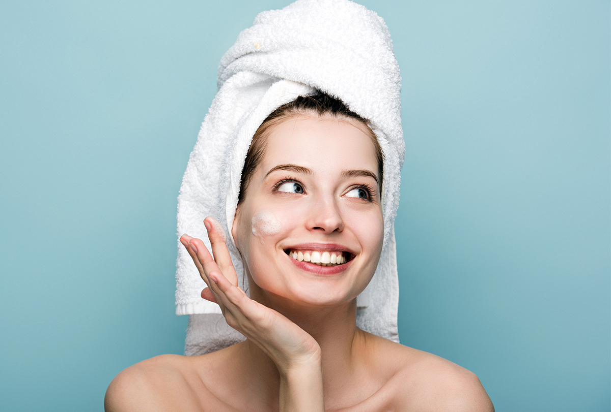 get clear skin at home