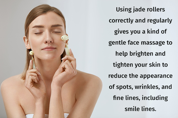 jade rollers can help reduce smile lines from your face
