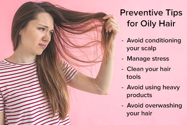 oily hair preventive tips