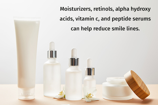 otc creams and serums can help reduce fine lines