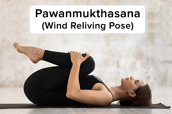 pawanmukthasana (wind reliving pose) for hair growth