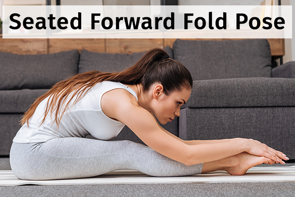 seated forward fold pose for relieving anxiety