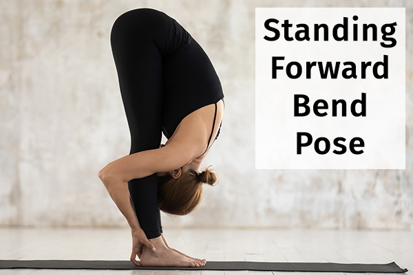 standing forward bend pose for relieving anxiety