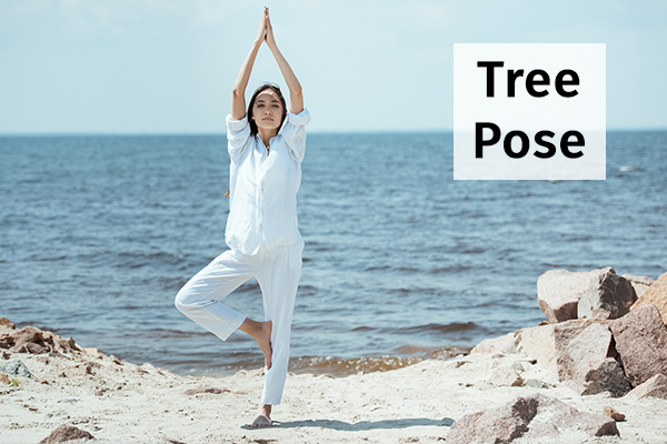 tree pose for reducing anxiety