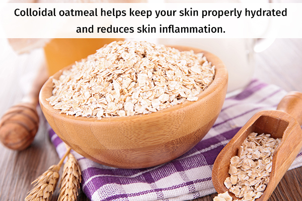 colloidal oatmeal usage can help you achieve clear skin