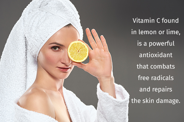 lemon or lime can help you obtain clear skin