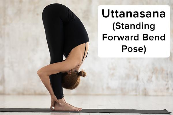 uttanasana (standing forward bend pose) for hair growth