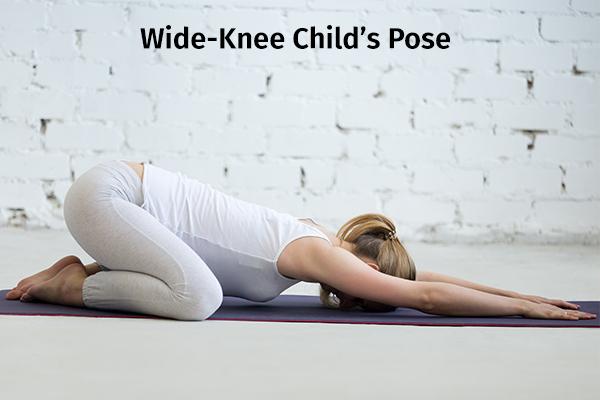 wide-knee child's pose