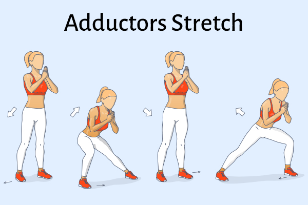 adductors stretch for strong, healthy knees