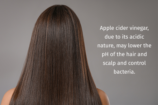 acv can help keep your hair shiny and healthy