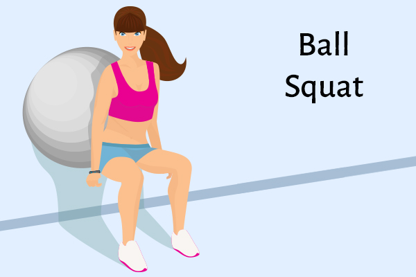ball squat for strong, healthy knees