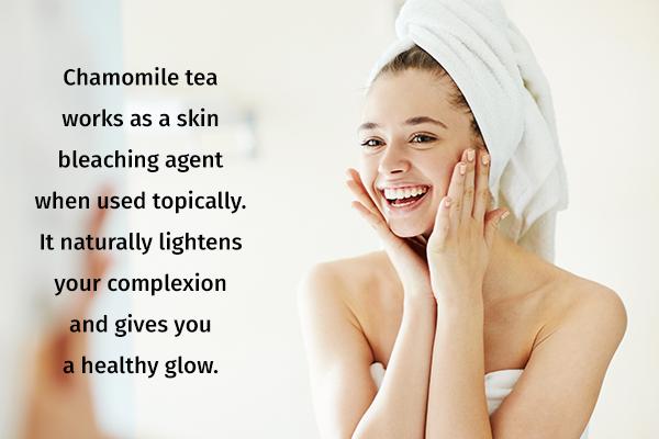 chamomile usage can help lighten skin complexion