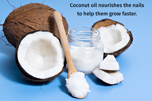 coconut oil nourishes your nail