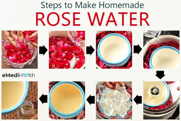 steps to make homemade rose water