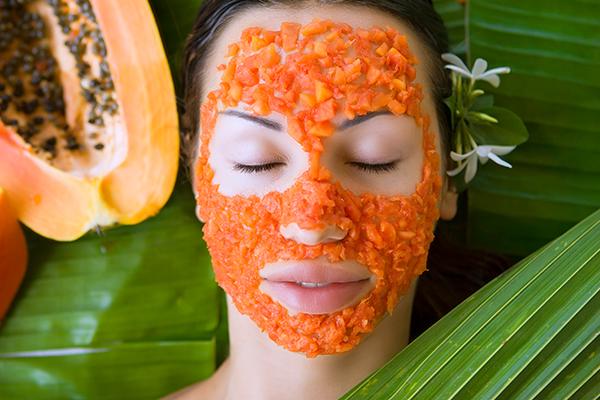 papaya-honey for detaning your skin