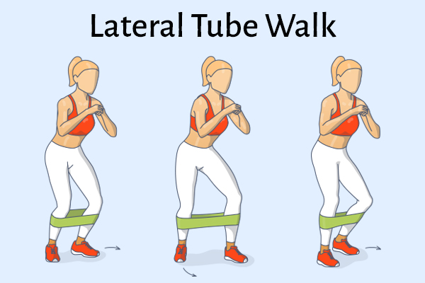 lateral tube walk for strong, healthy knees