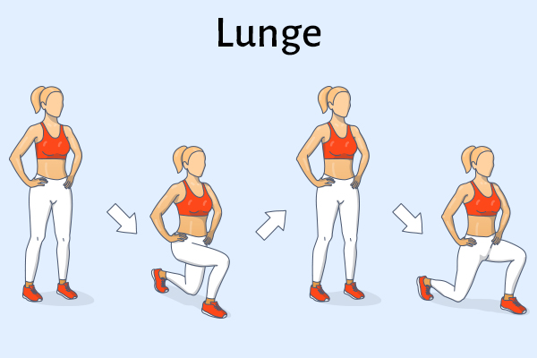 lunges for strong, healthy knees