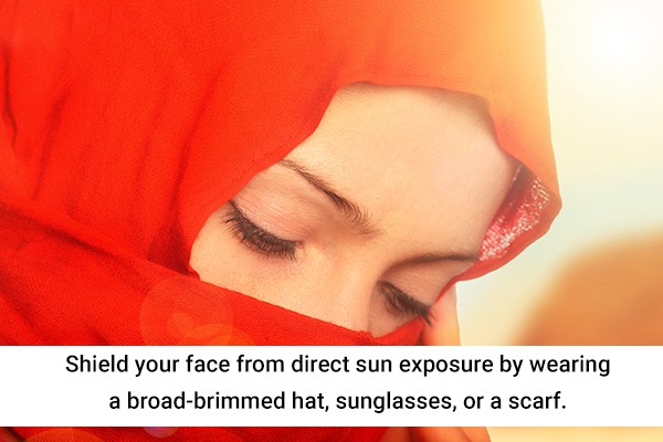 tips to prevent tanned skin
