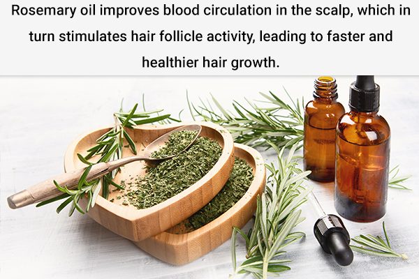 rosemary oil helps improve scalp blood flow