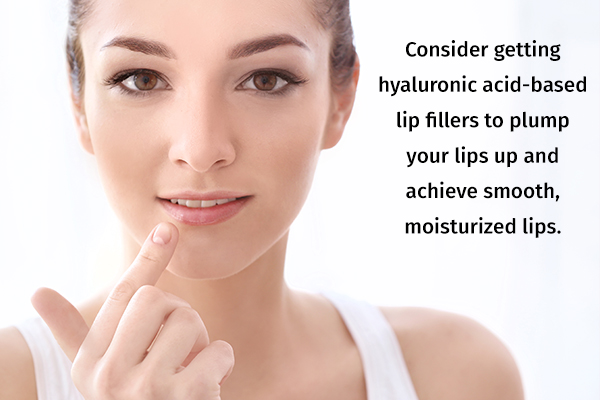 try using hydrating lip fillers to plump up your lips