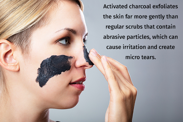activated charcoal helps in skin exfoliation