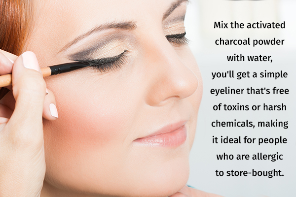 activated charcoal can be used for making diy eyeliners